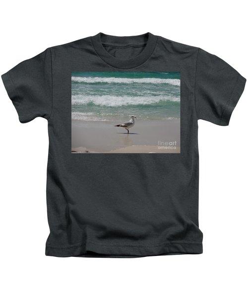 Seagull Kids T-Shirt by Megan Cohen