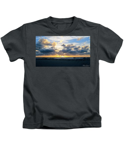 Seagulls On The Beach At Sunrise Kids T-Shirt