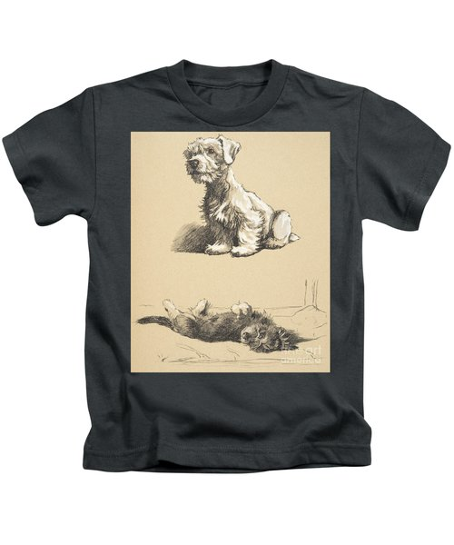 Sealyham And Rough Dachund Puppy, 1930 Kids T-Shirt