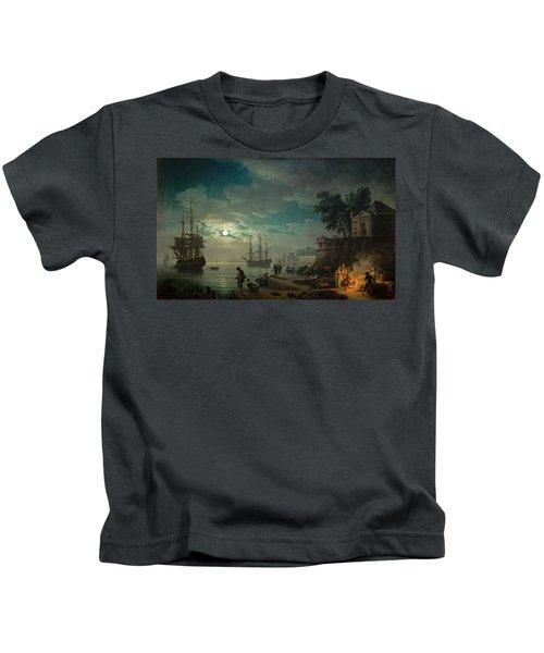 Seaport By Moonlight Kids T-Shirt