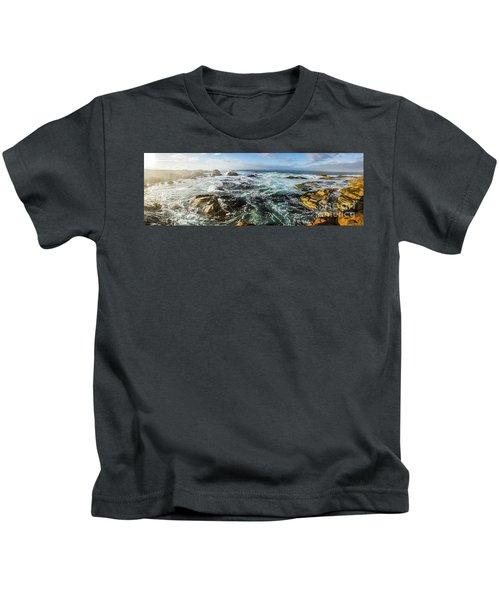 Seas Of The Wild West Coast Of Tasmania Kids T-Shirt