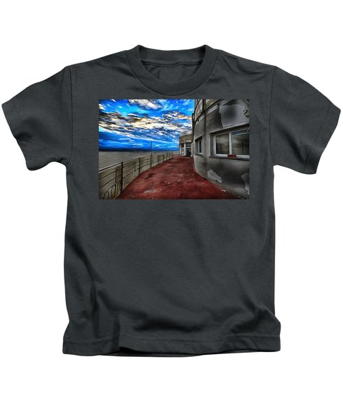 Seascape Atmosphere - Atmosfera Di Mare Dig Paint Version Kids T-Shirt