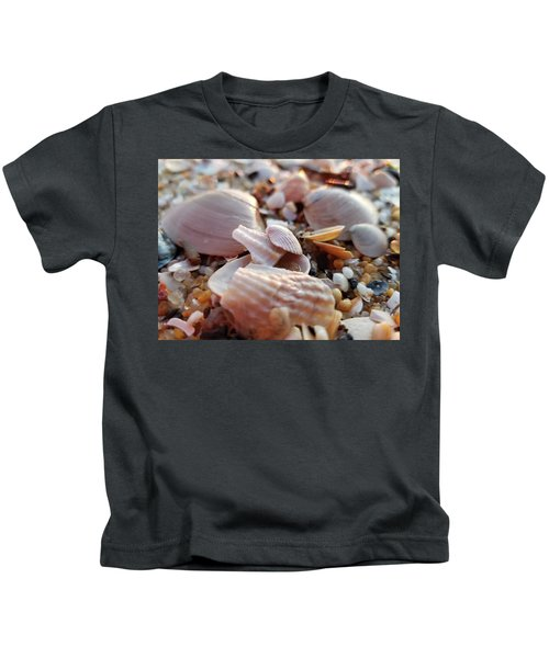 Seashells And Pebbles Kids T-Shirt