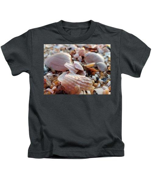Seashells And Pebbles Kids T-Shirt