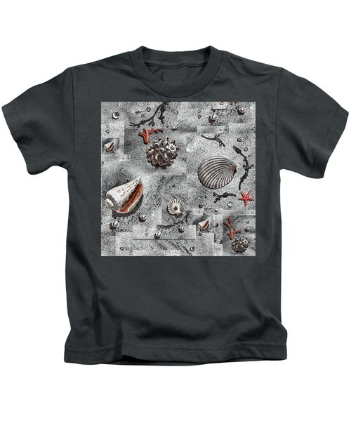 Seashells Collage Of Any Color Kids T-Shirt