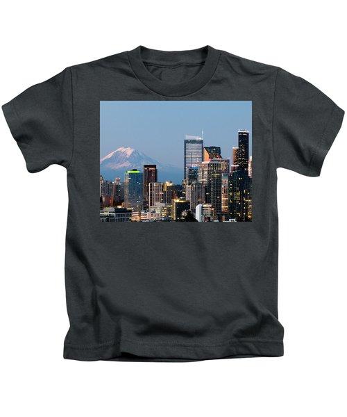 Seattle At First Light II Kids T-Shirt