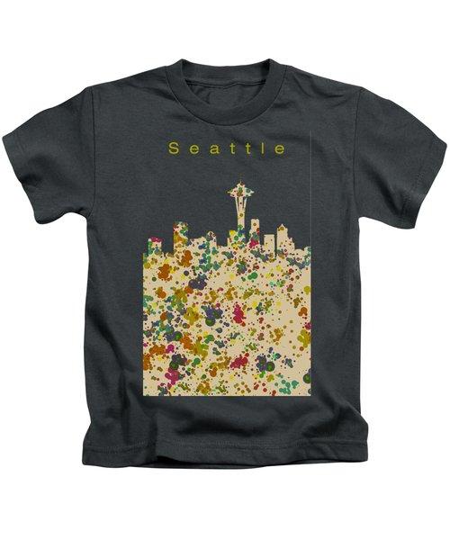 Seattle Skyline 1 Kids T-Shirt