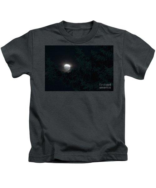 Seattle Winter Moonlight Kids T-Shirt