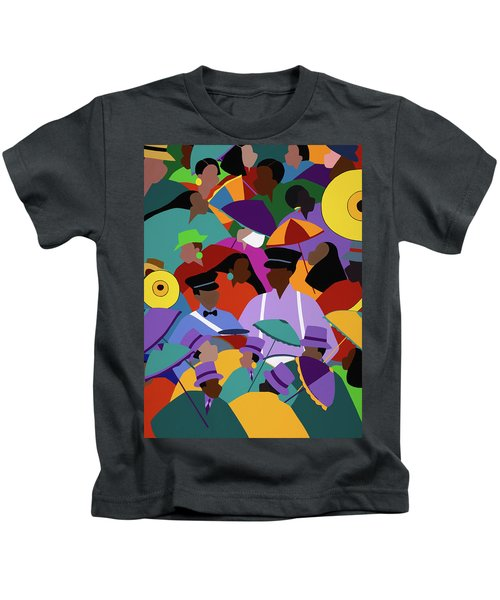 Second Line New Orleans Kids T-Shirt
