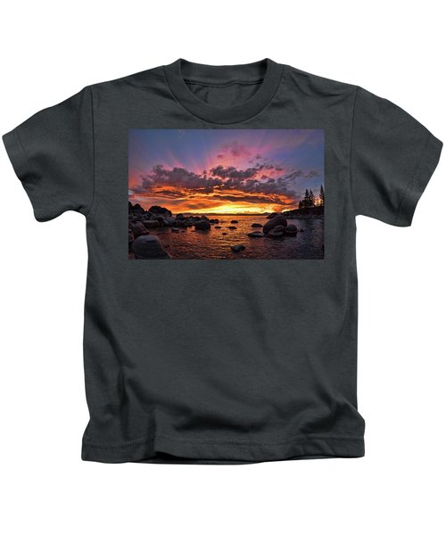 Secret Cove Sunset Kids T-Shirt