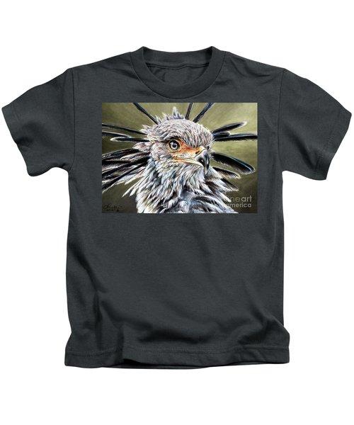 Secretary Bird Kids T-Shirt