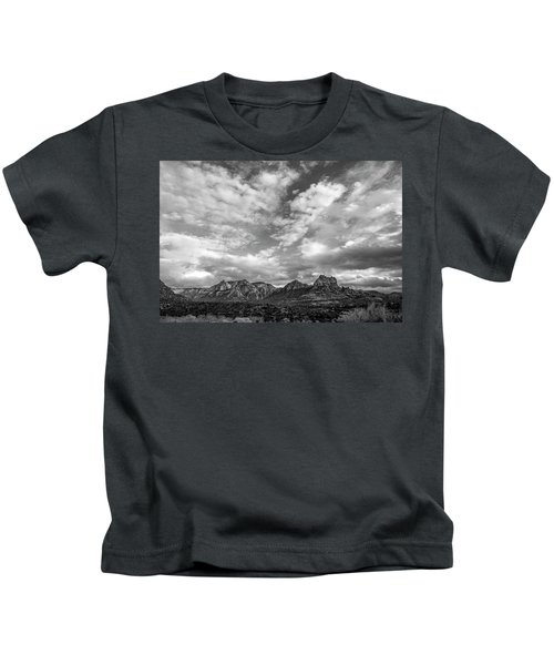 Sedona Red Rock Country Bnw Arizona Landscape 0986 Kids T-Shirt by David Haskett