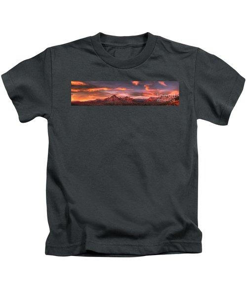 Sedona Sunset Panorama Kids T-Shirt