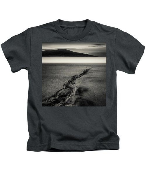 Seilebost Sand Tracks Kids T-Shirt