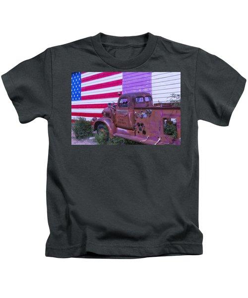 Seligman Fire Dept Engine Kids T-Shirt