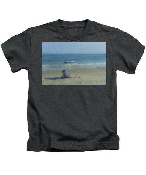 September Beach Reader Kids T-Shirt