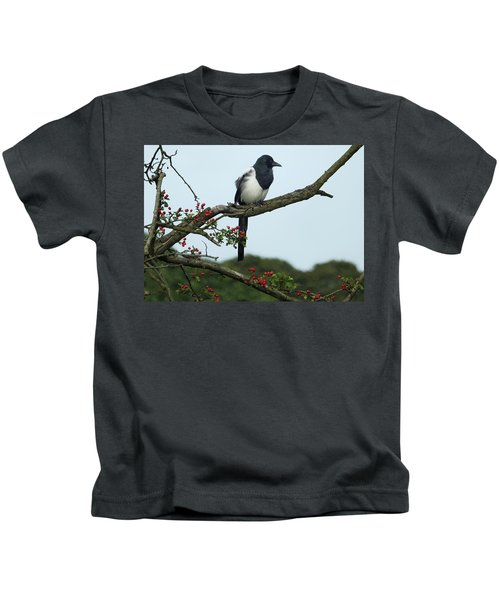 September Magpie Kids T-Shirt by Philip Openshaw