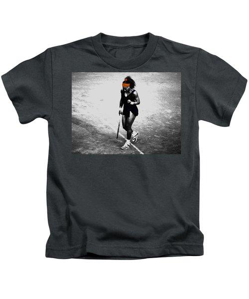 Serena Williams Match Point 3a Kids T-Shirt