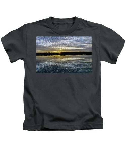 Serenity On A Paddleboard Kids T-Shirt
