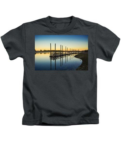 Serenity Sunset Kings Park New York Kids T-Shirt