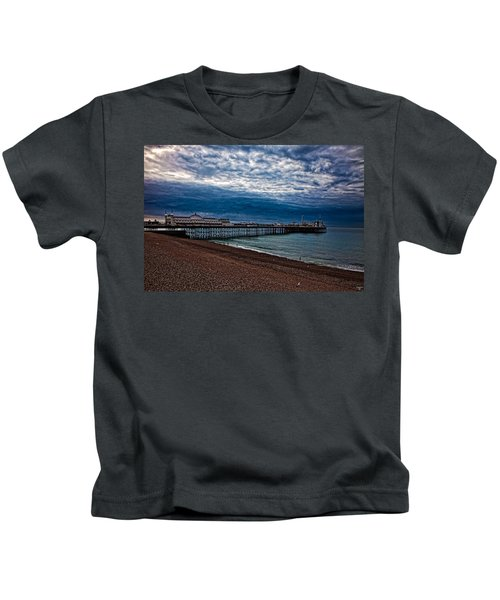 Seven Am On Brighton Seafront Kids T-Shirt