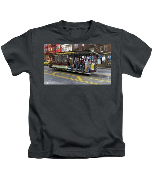 Sf Cable Car Powell And Mason Sts Kids T-Shirt