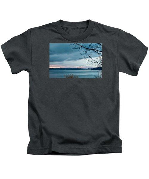 Shades Of Blue As Night Falls Kids T-Shirt