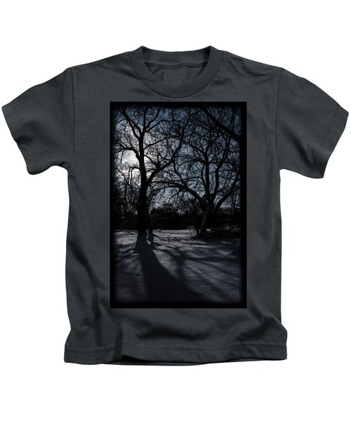 Shadows In January Snow Kids T-Shirt