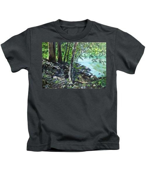 Shadows On The Bank Kids T-Shirt