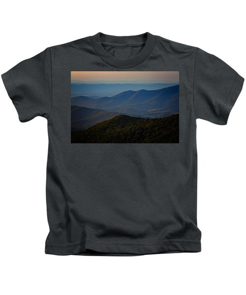 Shenandoah Valley At Sunset Kids T-Shirt