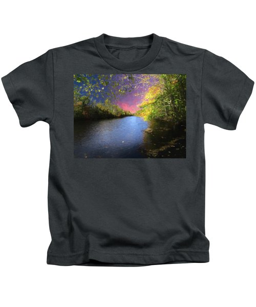 Shetucket River Ct. Kids T-Shirt