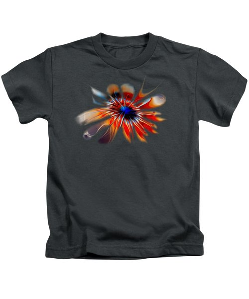 Shining Red Flower Kids T-Shirt