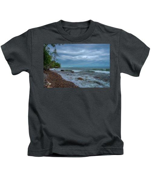 Shoreline Clouds Kids T-Shirt