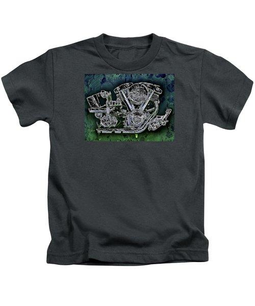 Harley - Davidson Shovelhead Engine Kids T-Shirt