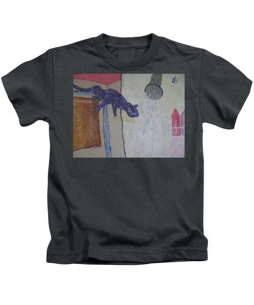Shower Cat Kids T-Shirt