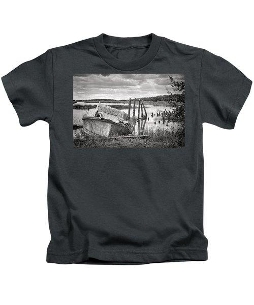 Shrimp Boat Graveyard Kids T-Shirt