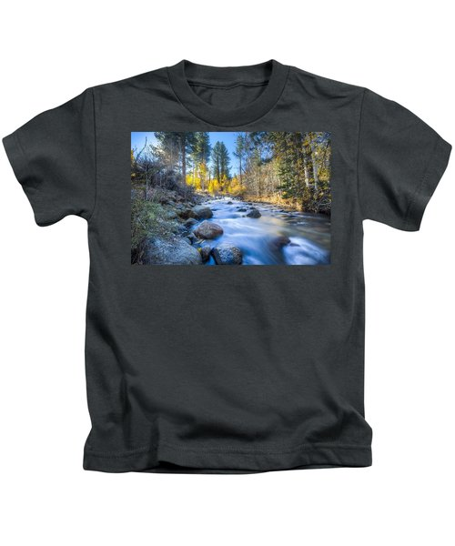 Sierra Mountain Stream Kids T-Shirt