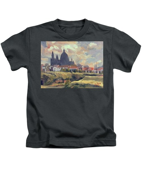 Silhouet Saint Lambertus Church Maastricht Kids T-Shirt