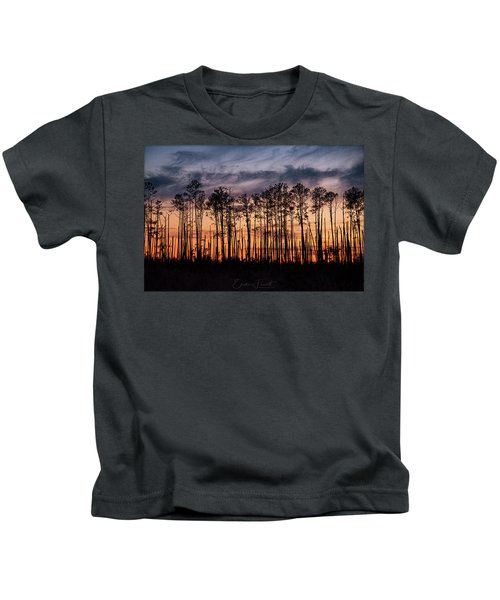 Silhouetted Sunset Kids T-Shirt