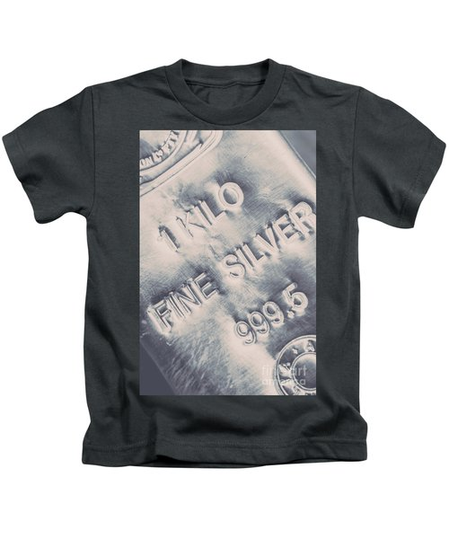 Silver Commodities Kids T-Shirt
