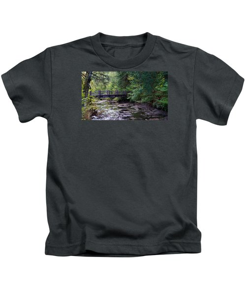 Silver Creek Falls #38 Kids T-Shirt