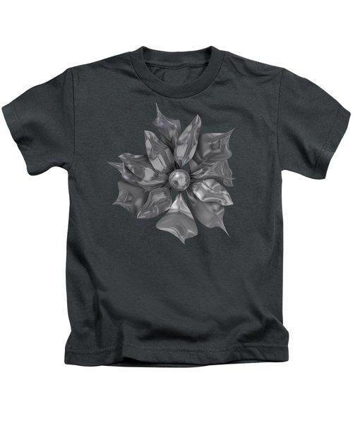 Silver Flower Kids T-Shirt