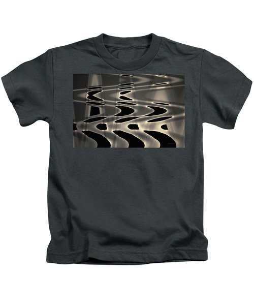 Silvery Abstraction Toned  Kids T-Shirt