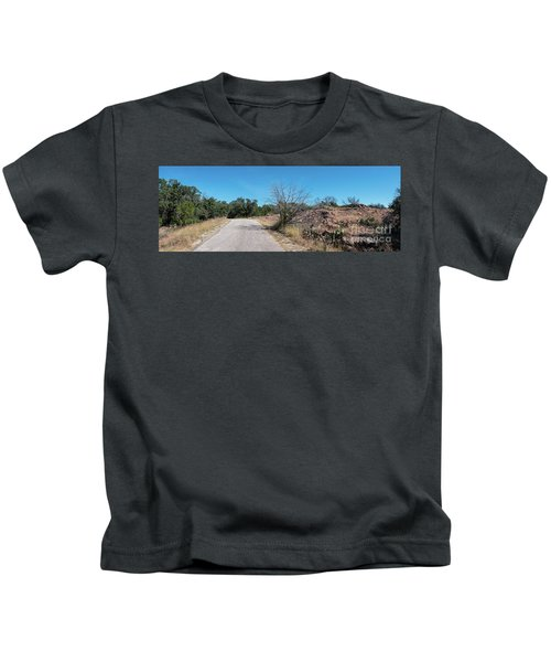 Single Lane Road In The Hill Country Kids T-Shirt