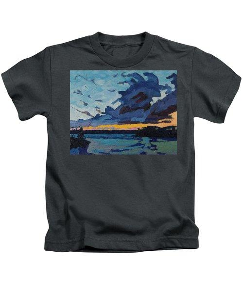 Singleton Sunset Stratocumulus Kids T-Shirt