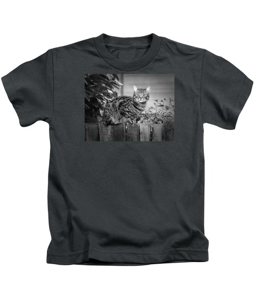 Sitting On The Fence Kids T-Shirt