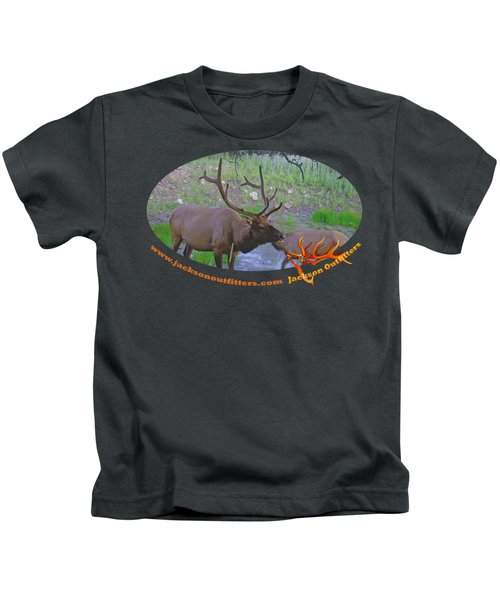 Six Point Bull Elk In Colorado Kids T-Shirt