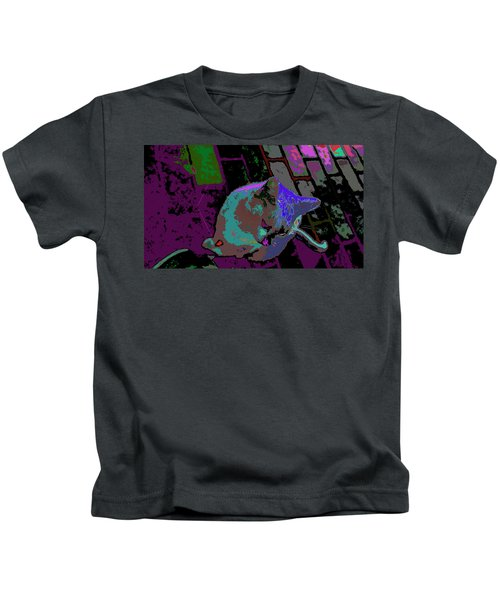 Skid Row Kitten Kids T-Shirt