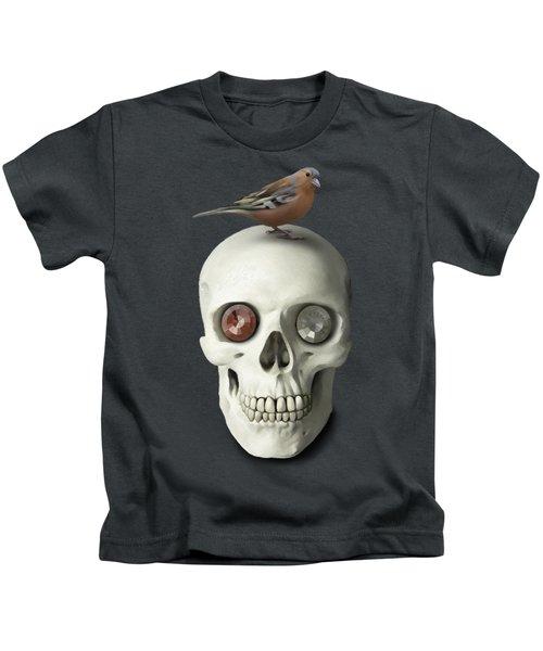 Skull And Bird Kids T-Shirt