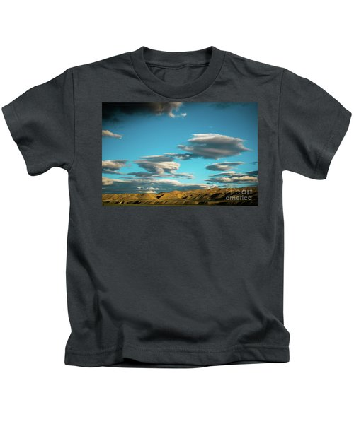 Sky And Clouds Garuda Valley Tibet Yantra.lv Kids T-Shirt